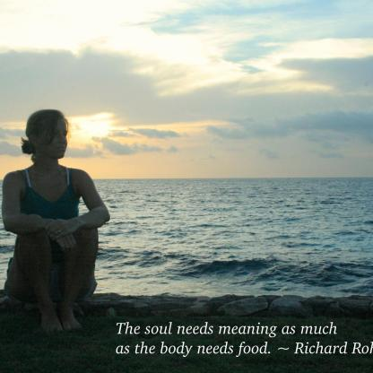 Soul needs meaning
